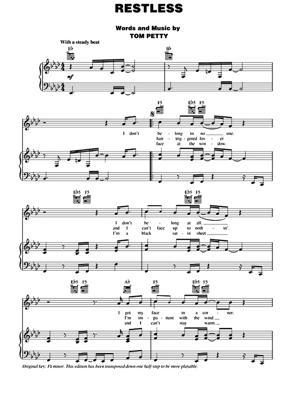 Sheet Music Tom Petty - Restless