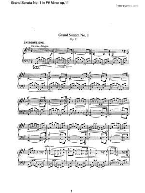 Sheet Music Grand Sonata No. 1 in F# Minor