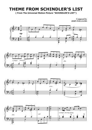Sheet Music John Williams - Schindlers List