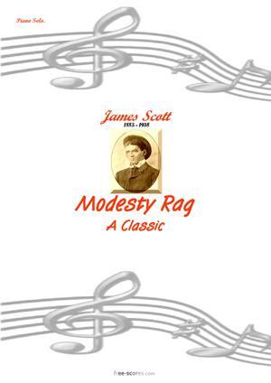 Sheet Music Modesty Rag