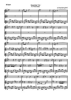 Sheet Music December Trio