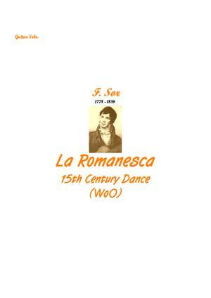 Sheet Music La Romanesca