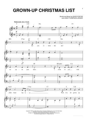 Sheet Music Michael Buble - Grown Up Christmas List