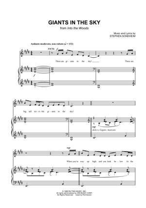 Sheet Music Into The Woods - Giants In The Sky