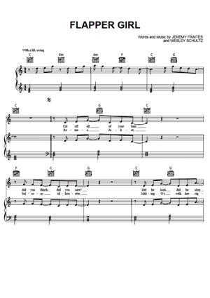Sheet Music The Lumineers - Flapper Girl