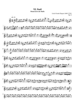 Sheet Music Louis-Claude Daquin (1694–1772) - Noel No 6