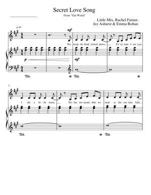 Sheet Music Little Mix - Secret Love Song