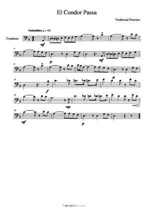 Sheet Music El Condor Passa