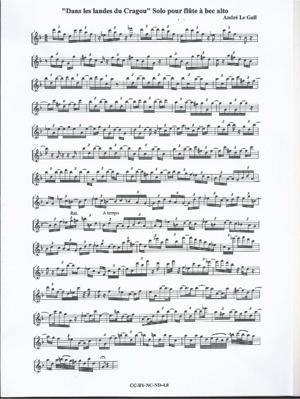 Sheet Music Dans les landes du Cragou