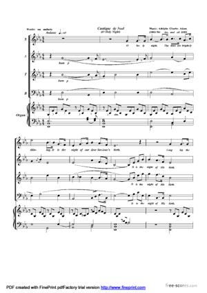Sheet Music Cantique de Noel (O Holy Night)