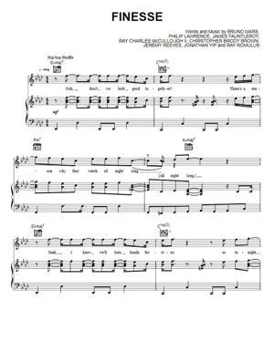 Sheet Music Bruno Mars - Finesse