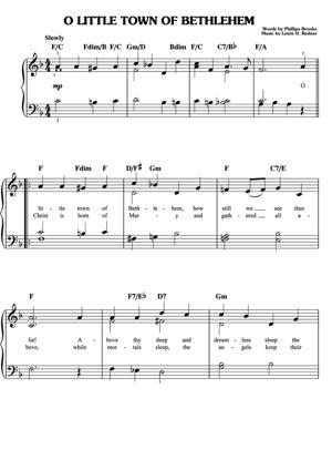 Sheet Music Christmas Sheet Music - O Little Town Of Bethlehem