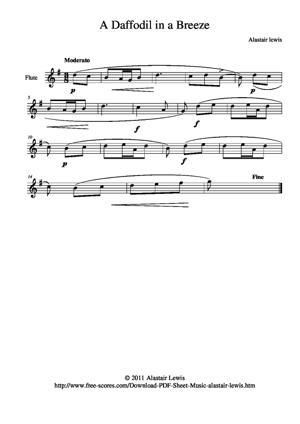 Sheet Music Daffodil in a Breeze