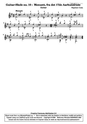 Sheet Music Guitar School no. 10