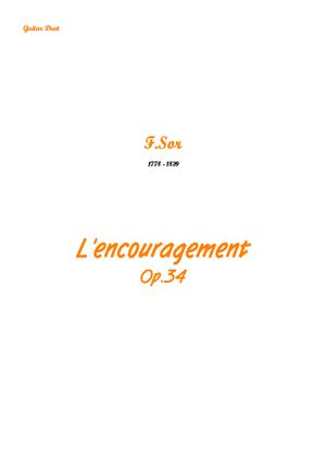 Sheet Music L'encouragement