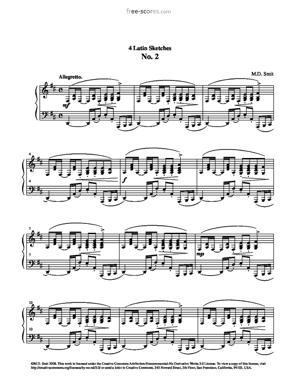 Sheet Music 4 Latin Sketches No. 2