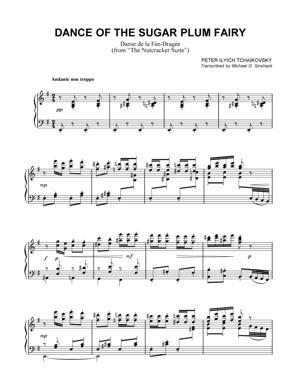 Sheet Music Tchaikovsky - Dance of the Sugar Plum Fairy