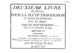 Sheet Music Pièces pour la flûte traversiere - Deuxiéme Livre