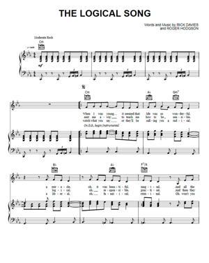 Sheet Music Supertramp - The Logical Song