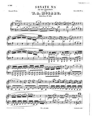 Sheet Music Piano Sonata No.5 in G major