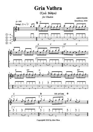 Sheet Music Gria Vathra