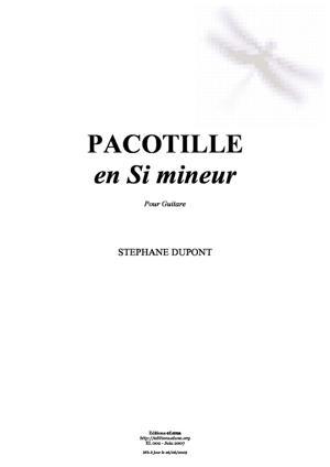 Sheet Music Pacotille en Si mineur