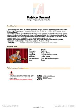 Sheet Music Michael