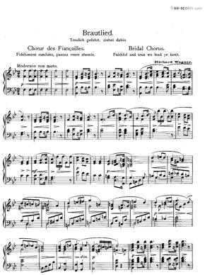 Sheet Music Bridal Chorus