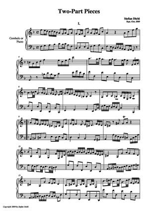 Sheet Music Two-Part Pieces
