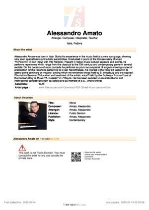 Sheet Music Alone