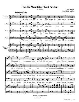 Sheet Music Let the Mountains Shout for Joy