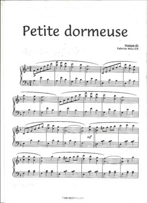 Sheet Music Petite dormeuse