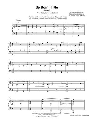 Sheet Music Francesca Battistelli from The Story - Be Born In Me