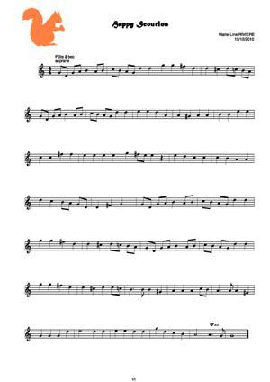 Sheet Music Happy Scourios