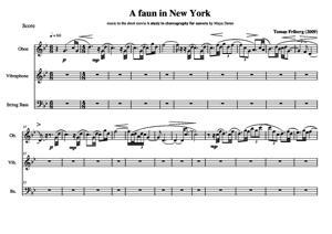 Sheet Music A faun in New York - for ob,vib,db