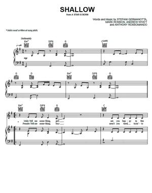 Sheet Music Lady Gaga - Shallow (from A Star Is Born)