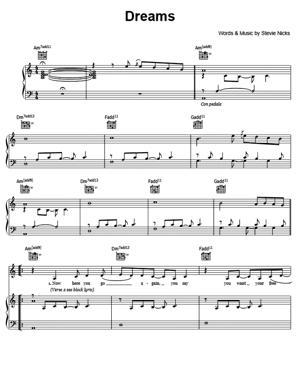 Sheet Music Fleetwood Mac - Dreams