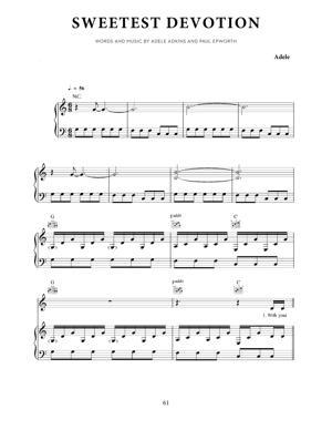 Sheet Music Adele - Sweetest Devotion