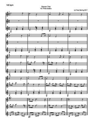 Sheet Music Devon Trio