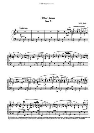 Sheet Music 8 Short Dances No. 2