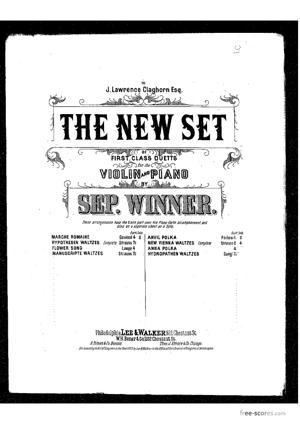 Sheet Music New Vienna waltzes