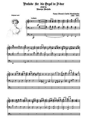 Sheet Music Prelude für Orgel in F dur (Original work)