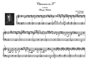 Sheet Music CHACONNE in F