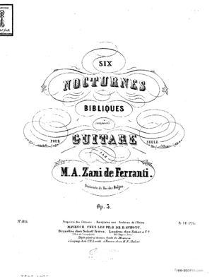 Sheet Music Six nocturnes bibliques
