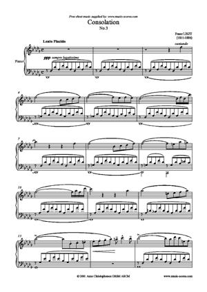 Sheet Music Consolation no.3