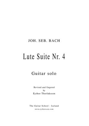 Sheet Music Lute  Suite no. 4