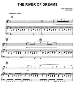 Sheet Music Billy Joel - The River Of Dreams