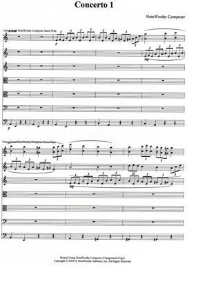 Sheet Music Concerto N°1