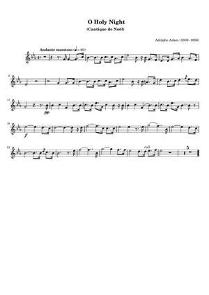 Sheet Music Adolphe Adam (1803–1856) - O Holy Night