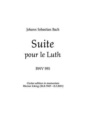 Sheet Music Suite BWV 995